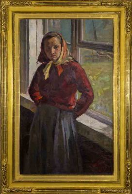 Fiodor Baranovsky - Girl by the Window, 1956