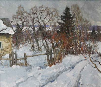 Select Sold Works: Alexander Kremer - Cabin in Zimka