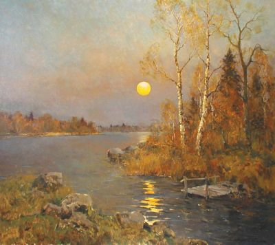 Select Sold Works: Alexander Kremer - Moonlit Lake