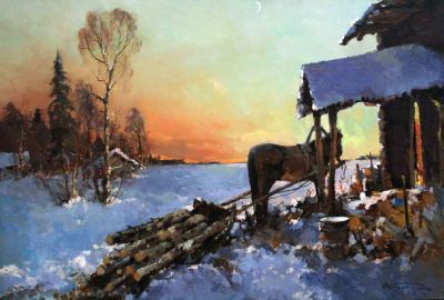 Select Sold Works: Alexander Kremer - Frozen Evening