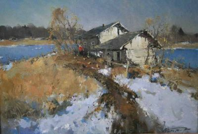 Select Sold Works: Alexander Kremer - Lakeside, Ladoga
