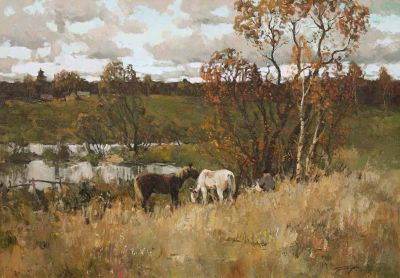 Select Sold Works: Alexander Kremer - Horses in the Field
