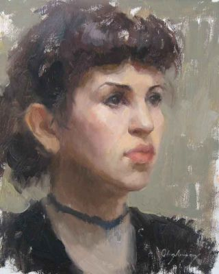 Select Sold Works: Marci Oleszkiewicz - Vintage Girl