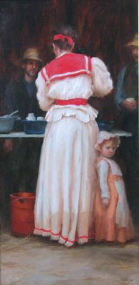 Select Sold Works: Marci Oleszkiewicz - Mama′s Little Girl
