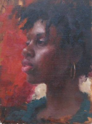 Select Sold Works: Marci Oleszkiewicz - Woman in Profile
