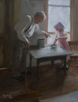 Select Sold Works: Marci Oleszkiewicz - Cooking Lesson