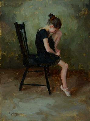 Select Sold Works: Marci Oleszkiewicz - Black Chair