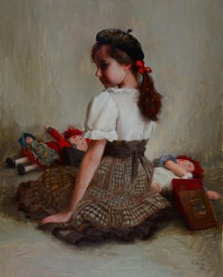Select Sold Works: Marci Oleszkiewicz - Annelle and Her Dolls