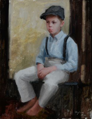 Select Sold Works: Marci Oleszkiewicz - A Boy and His Cap
