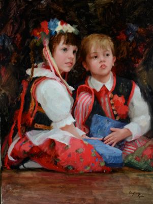 Select Sold Works: Marci Oleszkiewicz - Girl and Boy