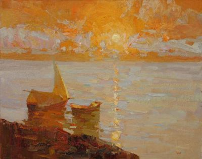 Click here to see selected sold works - Sun Above a Sea