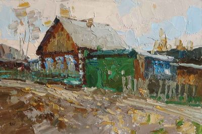 Click here to see selected sold works - In the Village