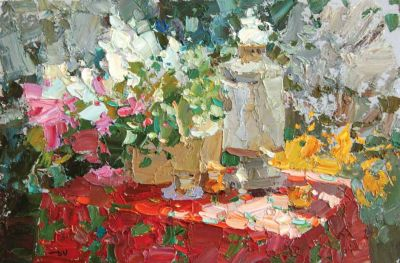 Click here to see selected sold works - Still Life with Samovar