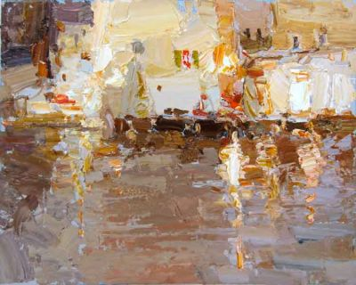 Click here to see selected sold works - Cafe in the Rain