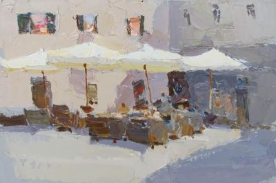 Click here to see selected sold works - Cafe Umbrellas