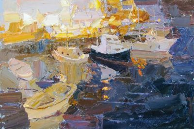 Click here to see selected sold works - Evening in the Port