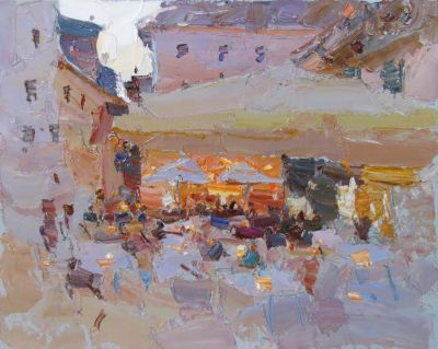 Click here to see selected sold works - Evening Cafe