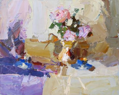 Click here to see selected sold works - Still Life with Roses