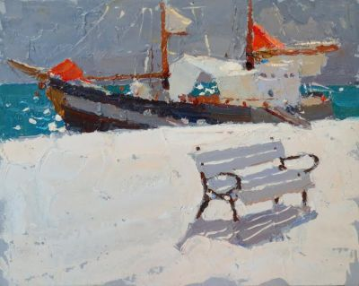Click here to see selected sold works - A Bench for Sailors