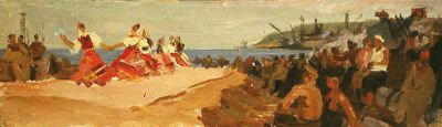 Mikhail Volodin - Sketch to Concert on the Construction Site