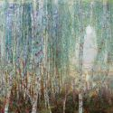 Aleksandr  Reznichenko - Moon, Birches in the Mist